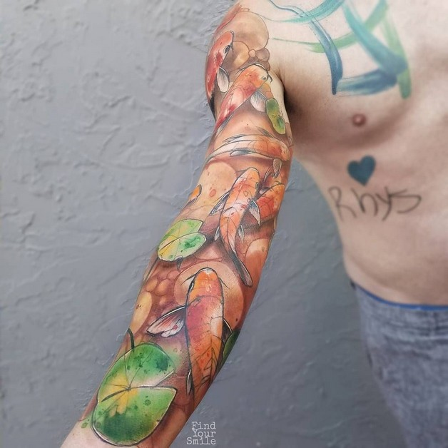 Koi Fish Tattoo For Biceps photo - 1