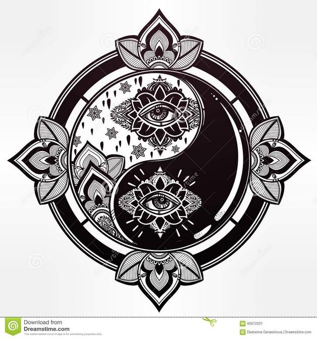 Latest Chinese Ying Yang Tattoo Design photo - 1
