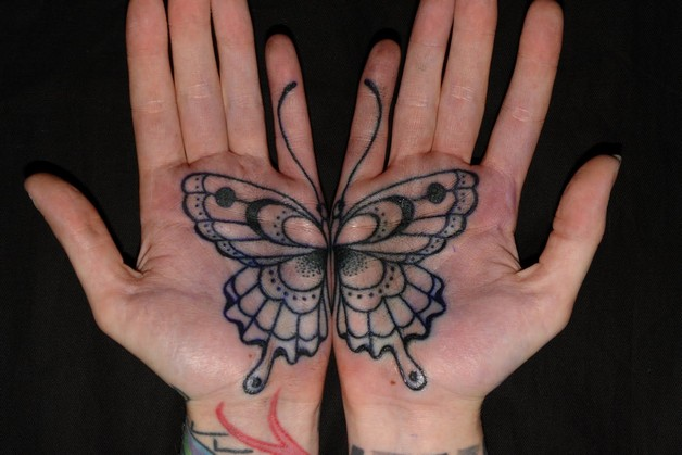 Left Hand Rose Tattoo Design photo - 1