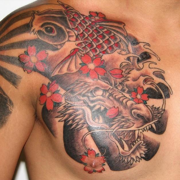 Left Shoulder Asian Dragon Tattoo photo - 1
