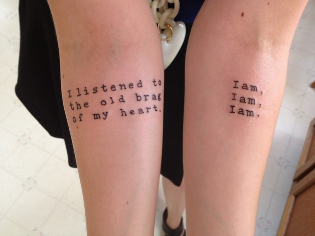 Literary Tattoo Designs For Couple photo - 1
