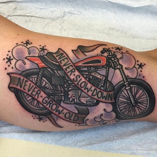 Live To Ride Eagle Tattoo On Back