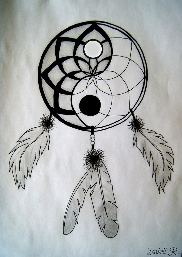 Lotus Yin Yang Tattoo Stencil photo - 1