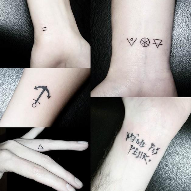 Lovely Girl With Cute Diamond Tattoo On Wrist photo - 1