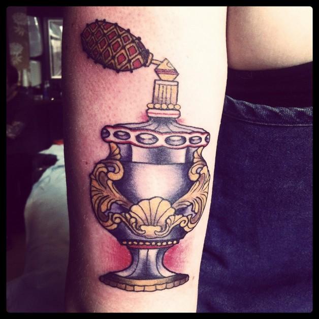 Lovely Perfume Bottle Tattoo photo - 1