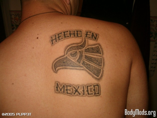Made In Mexico Eagle Tattoo On Forearm