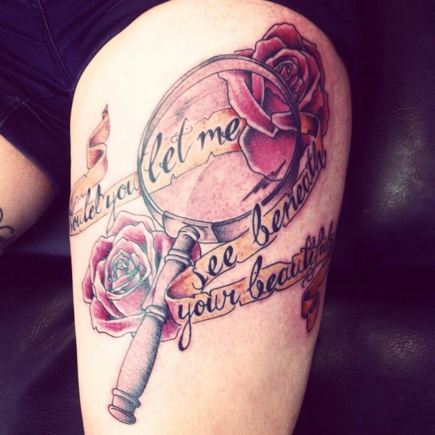 Magnifying Glass Tattoos On Arm photo - 1