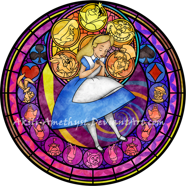 Meg Megara Kingdom Hearts Stain Glass Tattoo Design photo - 1