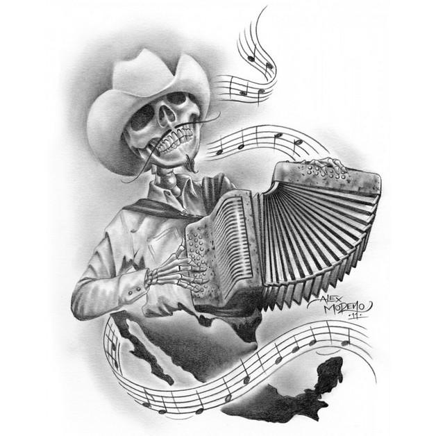 Mexican Aztec Tattoo Art photo - 1