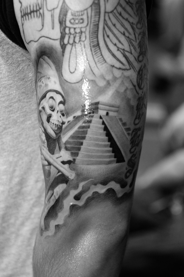Mexican Aztec Tattoo On Forearm