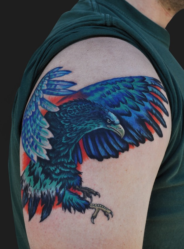 Mexican Eagle Tattoo On Shoulder photo - 1