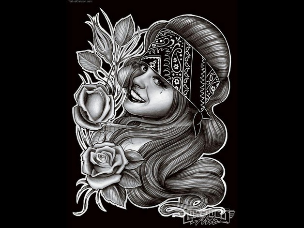 Mexican Gangsta Tattoo Design photo - 1