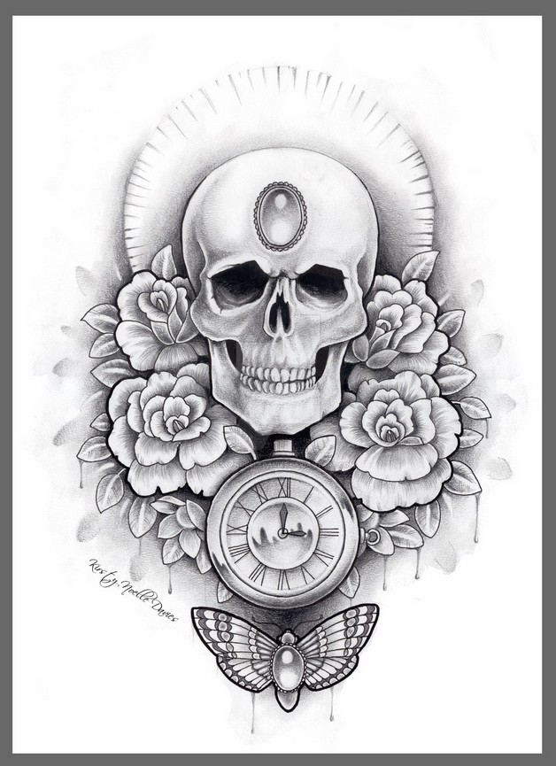 40d8fa9b4 Mexican Girl With Skull Tattoo Design