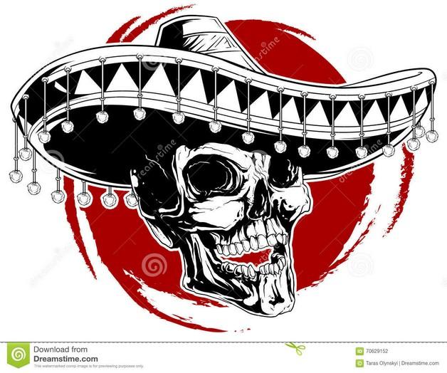 Mexican Skull Tattoo Image photo - 1