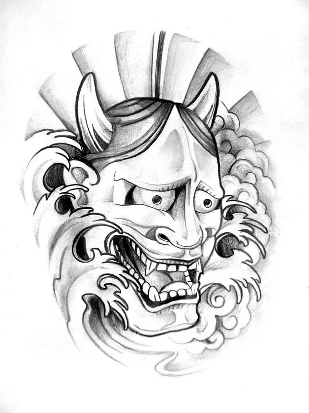 Mexican Style Skull Sleeve Tattoo Design photo - 1