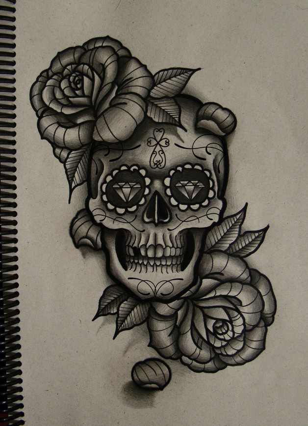 Mexican Woman Tattoo Sketch photo - 1