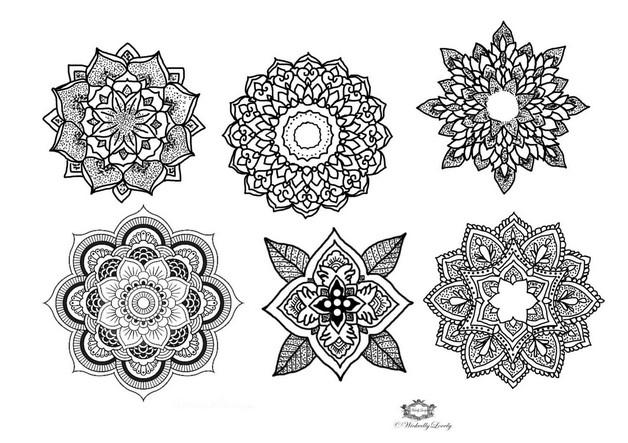 Modern Floral Tattoo Sample photo - 1