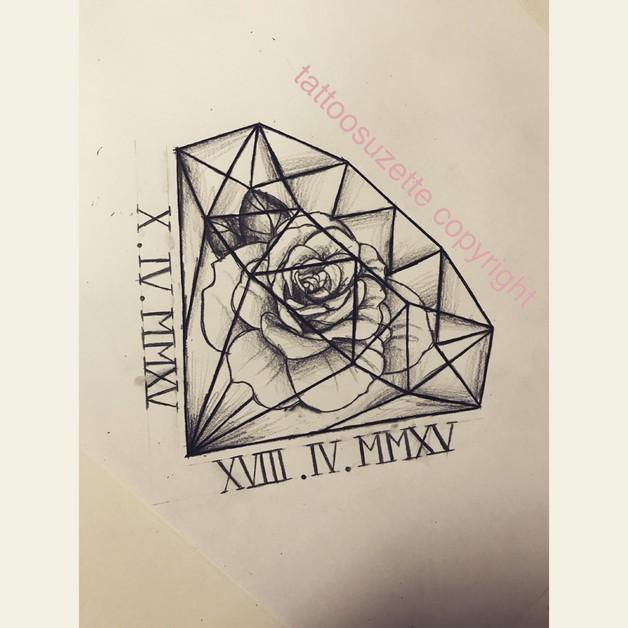 More Diamond Tattoo Designs