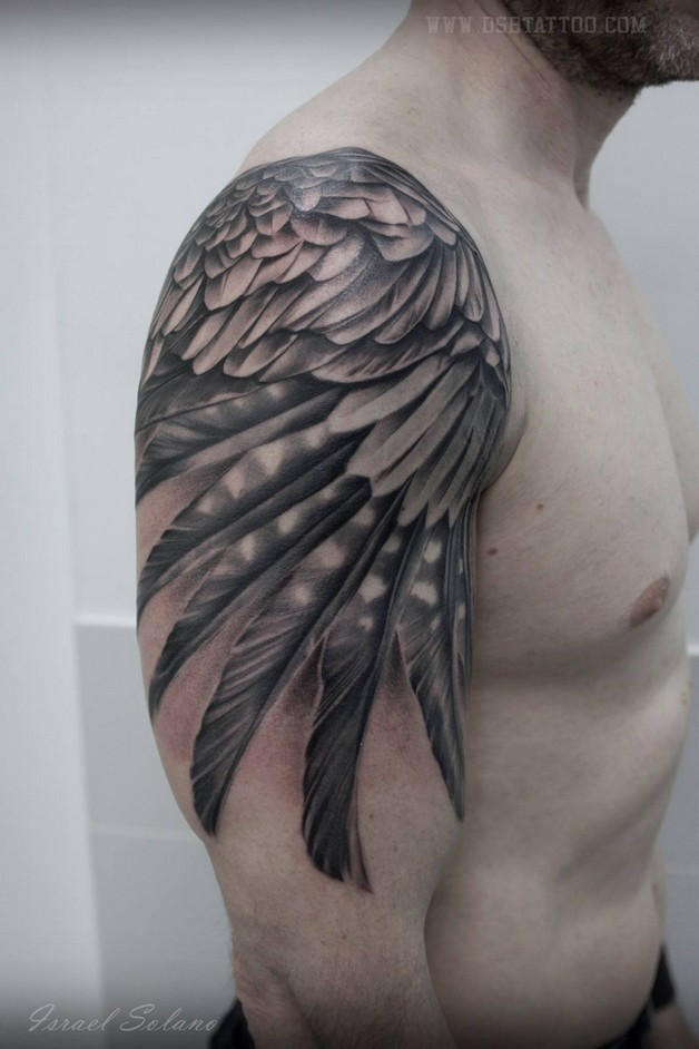 Nice Eagle Tattoo On Shoulder