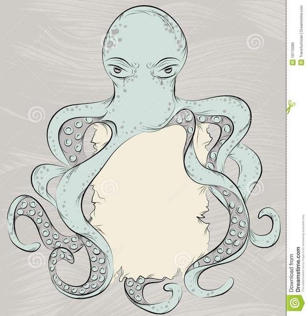 Octopus Hand Tattoo photo - 1