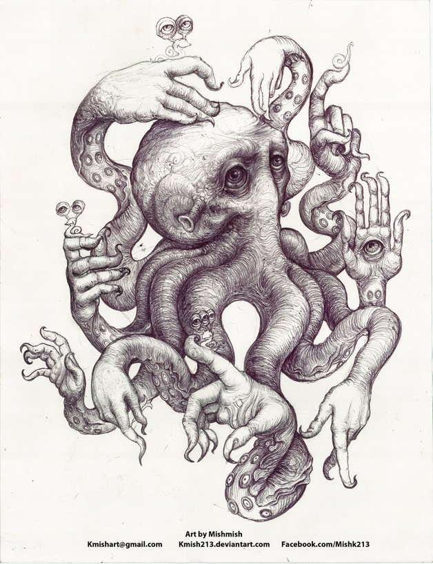 Octopus With Black Hat Tattoo photo - 1