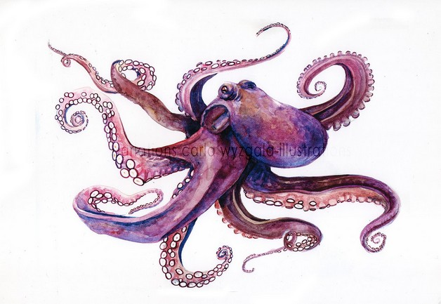 Octopus With Broken Heart Tattoos photo - 1