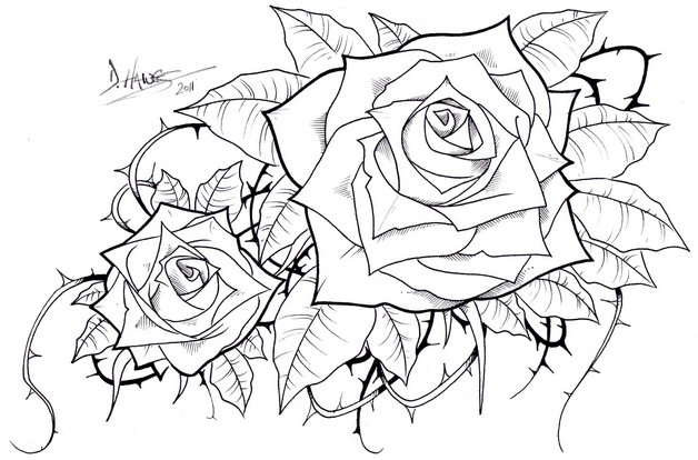 Outline Roses And Queens Crown Chestpiece Tattoos photo - 1