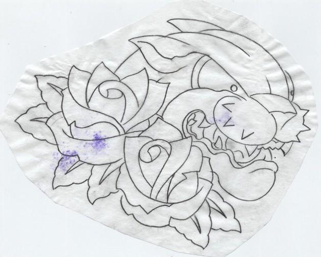 Panther Head n Dagger Tattoo Design photo - 1