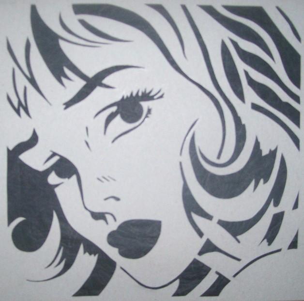 Pin Up Girl On Shamrock Tattoo Stencil photo - 1
