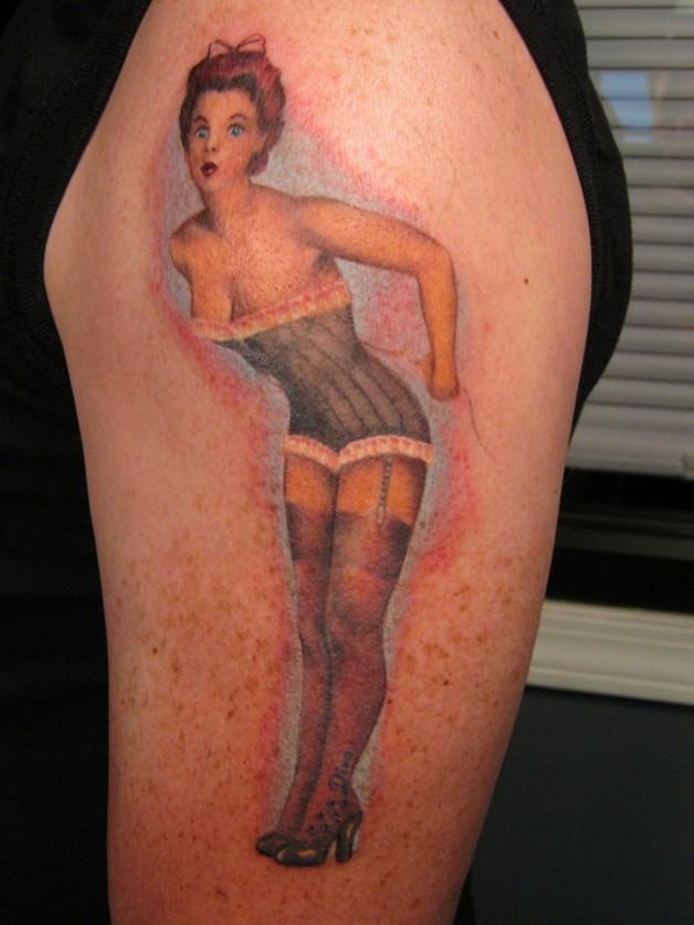 Pin Up Girl Tattoo Designs photo - 1