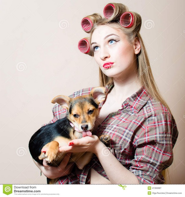 Pin Up Girl With Arms On Head Tattoo photo - 1