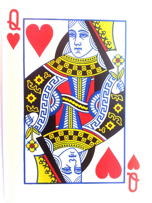 Playing Card Queen Of Hearts Tattoo Designs
