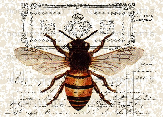 Queen Bee Tattoo Print photo - 1