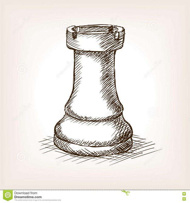 Queen Chess Piece Tattoo Sketch photo - 1