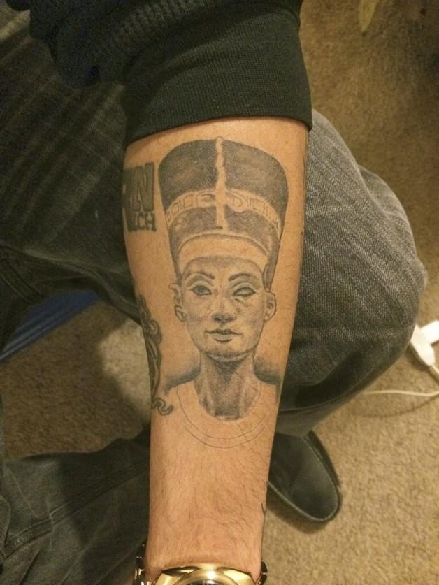 Queen Nefertiti Portrait Tattoo For Women photo - 1