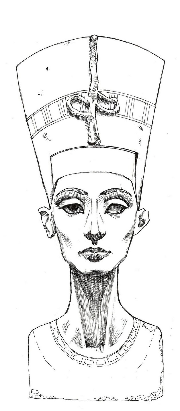 Queen Nefertiti Tattoo Sketch photo - 1