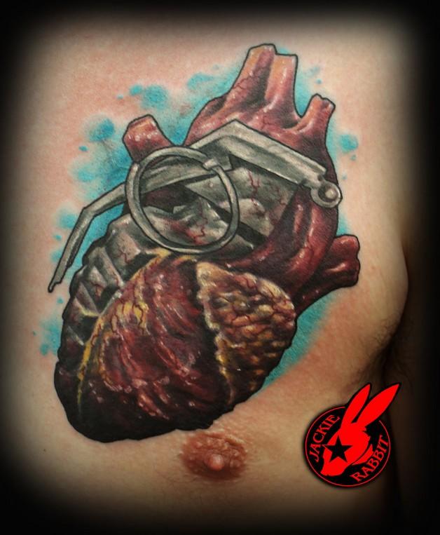 Rabbits Love Heart Tattoo photo - 1