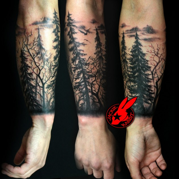 Real Looking Standing Rabbit Tattoo On Arm photo - 1