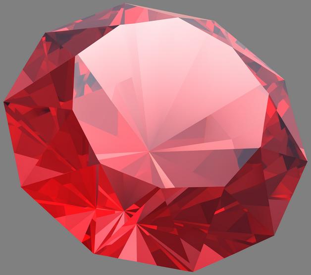 Red Diamond Tattoo Picture photo - 1
