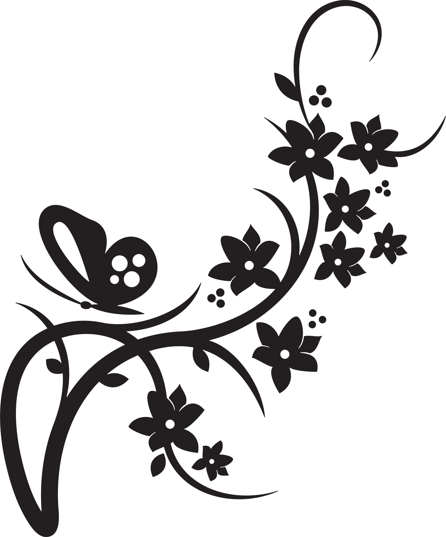 Red Flower n Butterflies Tattoo Design photo - 1