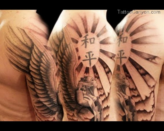 Religious Angel Tattoo On Biceps photo - 1