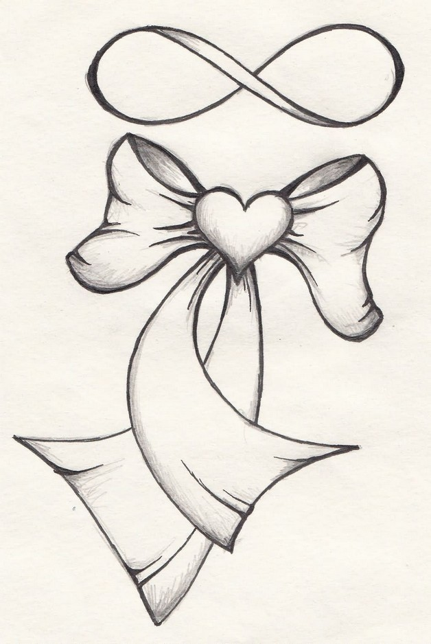 Ribbon Bow And Hearts Tattoo Designs photo - 1