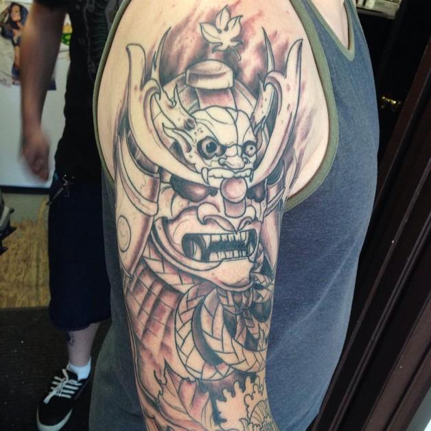 Right Half Sleeve Animal Tiger Tattoo photo - 1