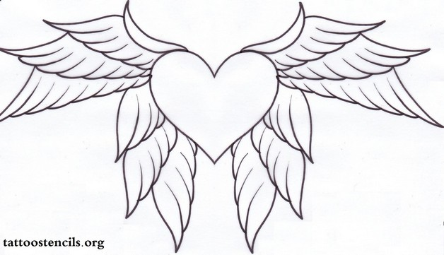 Scared Heart With Dagger n Wings Tattoo Sample photo - 1