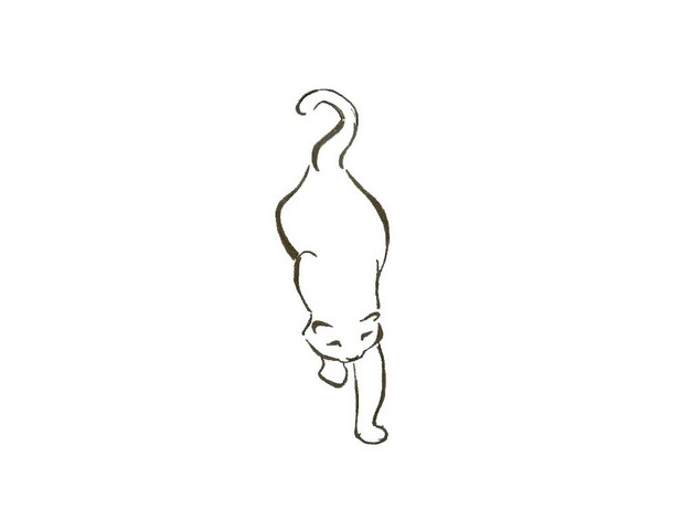 Simple Cat Tattoo Design photo - 1