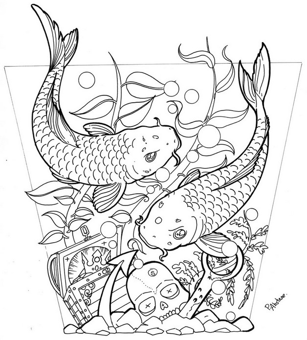 Simple Outline Octopus Tattoo Design photo - 1