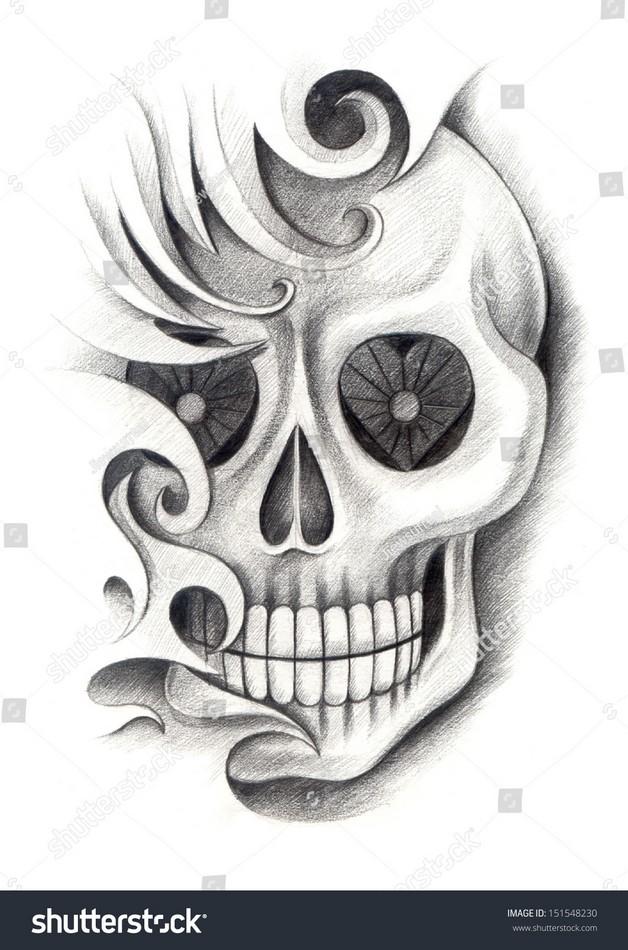 Skull Octopus Girl Tattoo Phot photo - 1