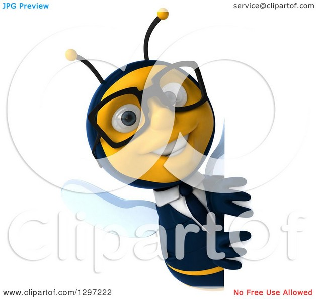 Smiling Bee Tattoo Design photo - 1