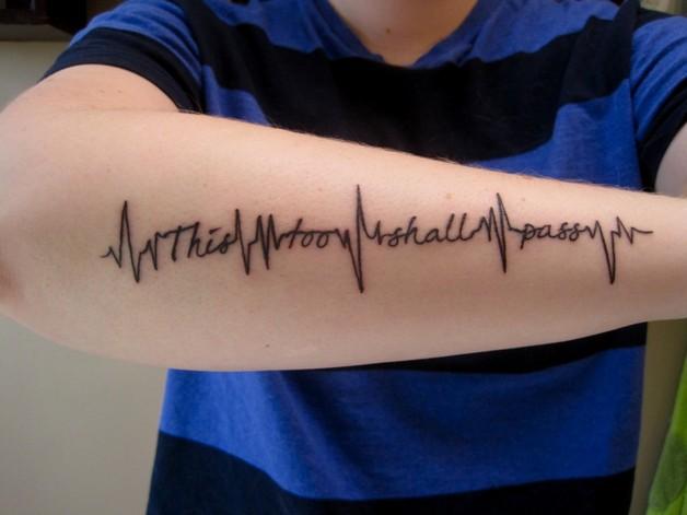 So It Goes Literary Tattoo On Arm photo - 1