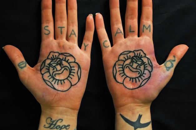 Sparkling Diamond Hand Tattoo Design photo - 1